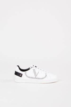 Valentino  - Sneaker mit Schmuckdetail Weiß/Schwarz