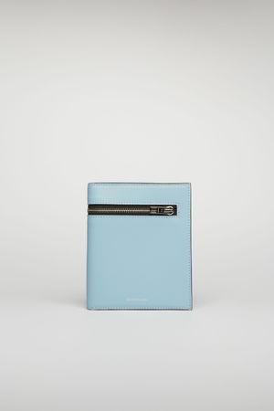 Acne Studios  FN-UX-SLGS000078 Hellblau/Schwarz  Trifold wallet grau
