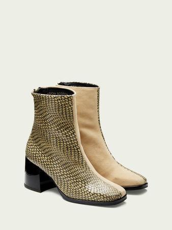 Scotch & Soda  Florence – Ankle Boots aus Leder und Wildleder