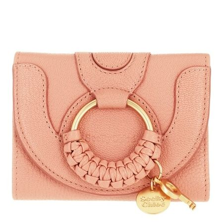 See By Chloé  Portemonnaie - Compact Wallet Leather - in pink - für Damen