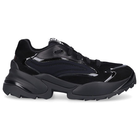 Sergio Rossi  Sneaker low SERGIO EXTREME Kalbsleder Logo schwarz-kombi schwarz