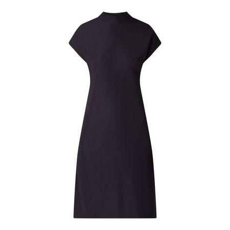 set Kleid mit Rippenstruktur schwarz