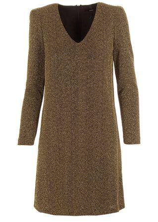 Seventy Sergio Tegon Kleid in Schwarz-Gold braun