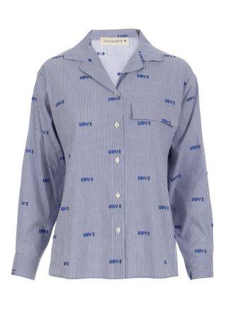 Shirtaporter Gestreifte Bluse aus Baumwoll-Mix