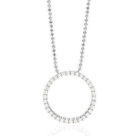 Sif Jakobs Jewellery  Halskette - Biella Grande Pendant And Chain 70 cm - in silver - für Damen