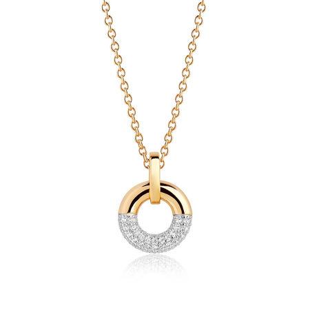 Sif Jakobs  Jewellery Halskette  -  Cannara Pendant White Zirconia 18K Gold Plated  - in gold  -  Halskette für Damen orange
