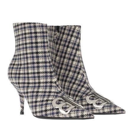 Balenciaga  Boots  -  Heeled Ankle Boots Beige/Navy/Silver  - in beige  -  Boots für Damen grau
