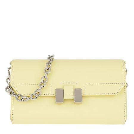 Maison Héroïne  Umhängetasche  -  Amal Handle Bag Lemon Glaze/Silver  - in gelb  -  Umhängetasche für Damen orange