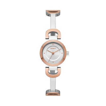 DKNY  Uhr  -  City Link Watch Ladies Roségold/Silver  - in rosa  -  Uhr für Damen grau
