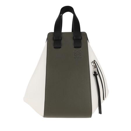 Loewe  Hobo Bag  -  Hammock Small Bag Khaki/Soft White  - in bunt  -  Hobo Bag für Damen grau