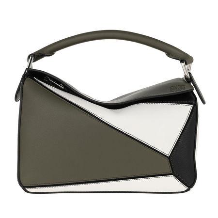 Loewe  Umhängetasche  -  Puzzle Small Bag Khaki Green/Soft White  - in grün  -  Umhängetasche für Damen grau