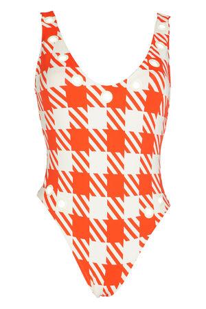 Solid & Striped Michelle Badeanzug in orange