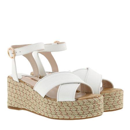 Sophia Webster  Espadrilles  -  Ariel Platform Espadrille White  - in weiß  -  Espadrilles für Damen braun
