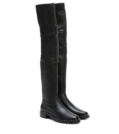 Sophia Webster Overknee-Stiefel Bessie aus Leder schwarz