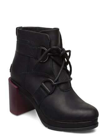 Sorel Margo Lace-Up Bootie Shoes Boots Ankle Boots Ankle Boots With Heel Schwarz  schwarz