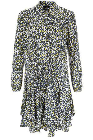 Steffen Schraut  Gemustertes Kleid mit Seide Damen Farbe: gemustert verfügbare Größe: 36|38|40|42|34 grau