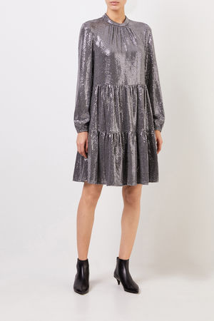 Steffen Schraut  - Kleid mit Paillettendetails Silber