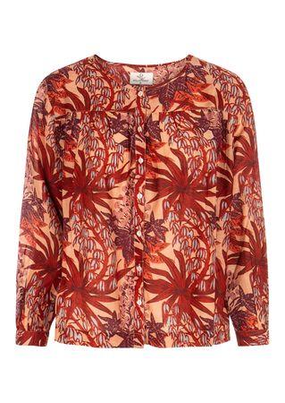 Stella Forest Bluse mit floralem Print in Rot und Lila rot
