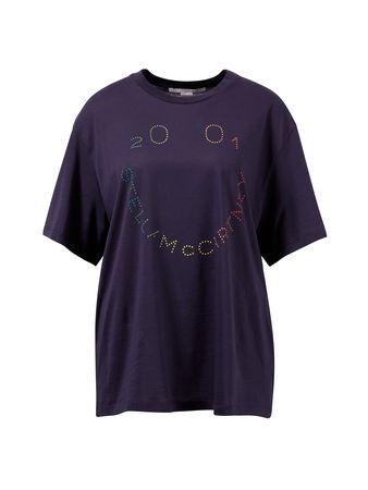 Stella McCartney  - Baumwoll-T-Shirt mit Logo Print Marine 100% Baumwolle Das Model ist 180 cm und trägt Größe 36: Maße der größe 36: - Gesamtlänge: ca. 70 cm - Brustweite: ca 59 cm grau