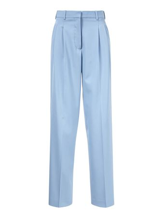 Stella McCartney  - Hose 'Lizette Trousers' Hellblau blau