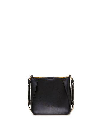 Stella McCartney  - Umhängetasche 'Hobo Eco Soft Mini' mit perforiertem Logo Schwarz schwarz