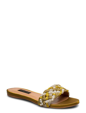 Stine Goya Alaia, 888 Alaia Sandal Shoes Summer Shoes Flat Sandals Gold  gruen