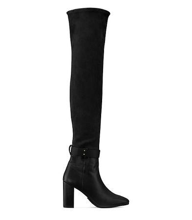 Stuart Weitzman  - Der Luna 85 Stiefel - Black - Size 42 schwarz