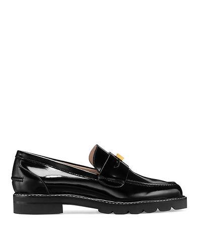 Stuart Weitzman  - Der Penley Loafer - Black - Size 42 schwarz