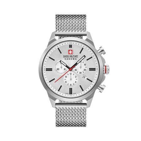 Swiss Military  Uhr  -  Men Watch Chrono Classic II Silver  - in silber  -  Uhr für Damen grau
