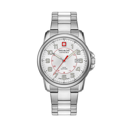 Swiss Military  Uhr  -  Men Watch Swiss Grenadier White  - in silber  -  Uhr für Damen grau