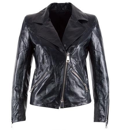 Sylvie Schimmel  - Bikerjacke aus Leder schwarz