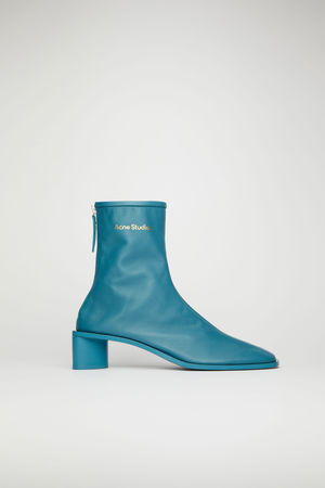 Acne Studios  FN-WN-SHOE000355 Teal blue/teal blue  Branded leather boots grau