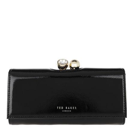Ted Baker  Portemonnaie  -  Elador Crinkle Patent Bobble Matinee Purse Black  - in schwarz  -  Portemonnaie für Damen schwarz