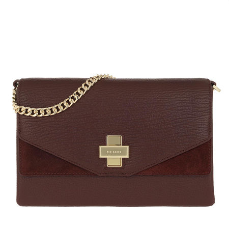 Ted Baker  Satchel Bag  -  Flip Clasp Crossbody Bag Oxblood  - in rot  -  Satchel Bag für Damen braun
