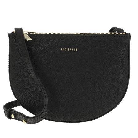Ted Baker  Umhängetasche  -  Stelaah Curved Leather Crossbody Black  - in schwarz  -  Umhängetasche für Damen schwarz