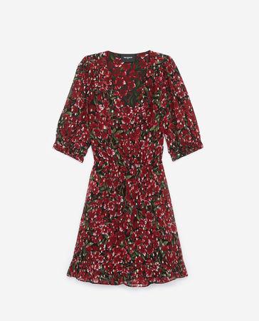 The Kooples  - bedrucktes kleid mit schulterpolstern - bur - Damen