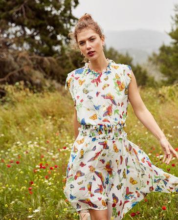 The Kooples  - leichtes asymmetrisches kleid mit print - mehrfarben- - Damen