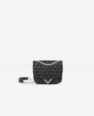 The Kooples  - mini-handtasche stella by  aus schwarzem leder - bla - Damen weiss
