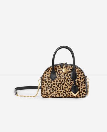 The Kooples  - mittelgroße handtasche irina by  in leoparden-optik - leopard - Damen weiss