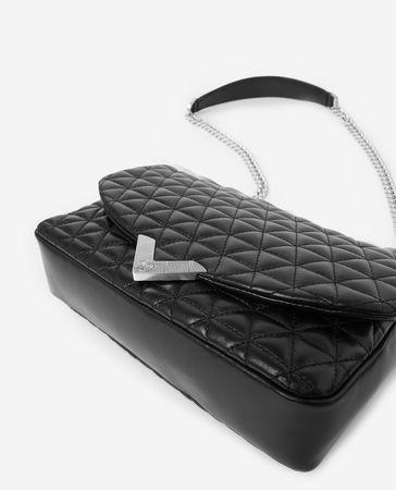The Kooples  - mittelgroße handtasche stella by  aus schwarzem leder - bla - Damen grau