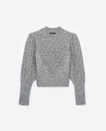 The Kooples  - Pullover aus Wollmischgewebe in Grau -