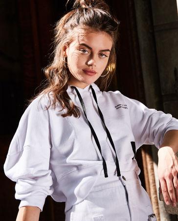 The Kooples  - weißes kapuzen-sweatshirt mit  aufnäher - weiß - Damen