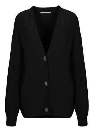 THE MERCER Cardigan mit Taschen schwarz