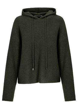 THE MERCER Cashmere Kapuzen-Pullover grau