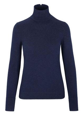 THE MERCER Pullover mit Stehkragen grau