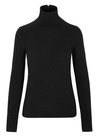 THE MERCER Pullover mit Stehkragen schwarz