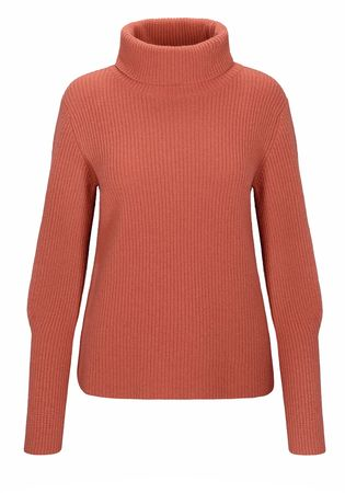 THE MERCER Rippstrick-Pullover rot