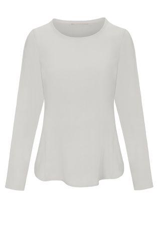 THE MERCER Silk-Shirt braun