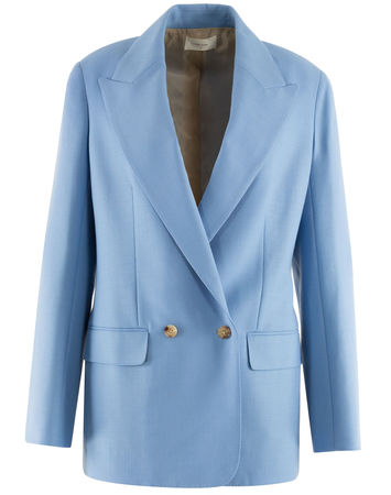 The Row  - Blazer Presner aus Baumwollgemisch blau