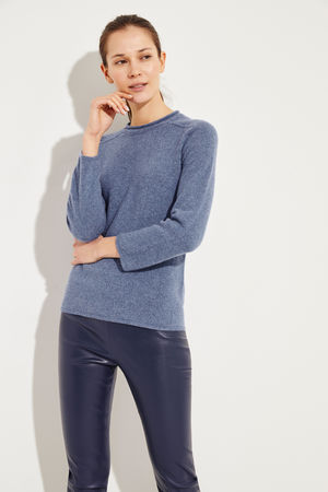 The Row  - Cashmere-Pullover 'Rickie' Blau 100% Cashmere Made in USA